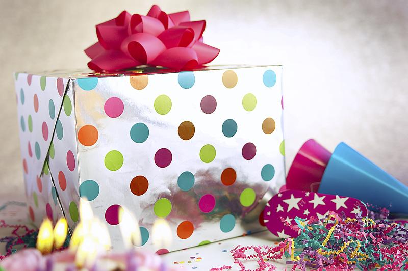 Как подарить много подарков на день рождения